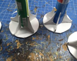 building the structure of the jungle trees for wargaming terrain
