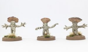 Lesser Myconids from Otherworld Miniatures front