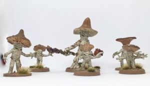 Myconids from Otherworld Miniatures