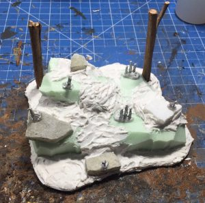 Meerkat den for wargaming - unpainted