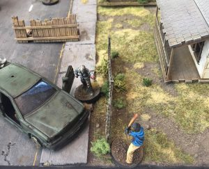 The Walking Dead gaming table encounter