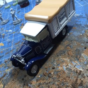 diecast for wargaming with taped windows