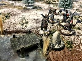 How to build a winter wargaming table - warrior on the lake