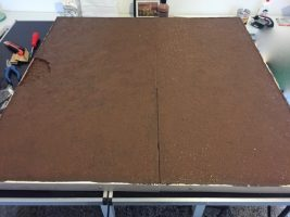 How to build a winter wargaming table - applying the base color