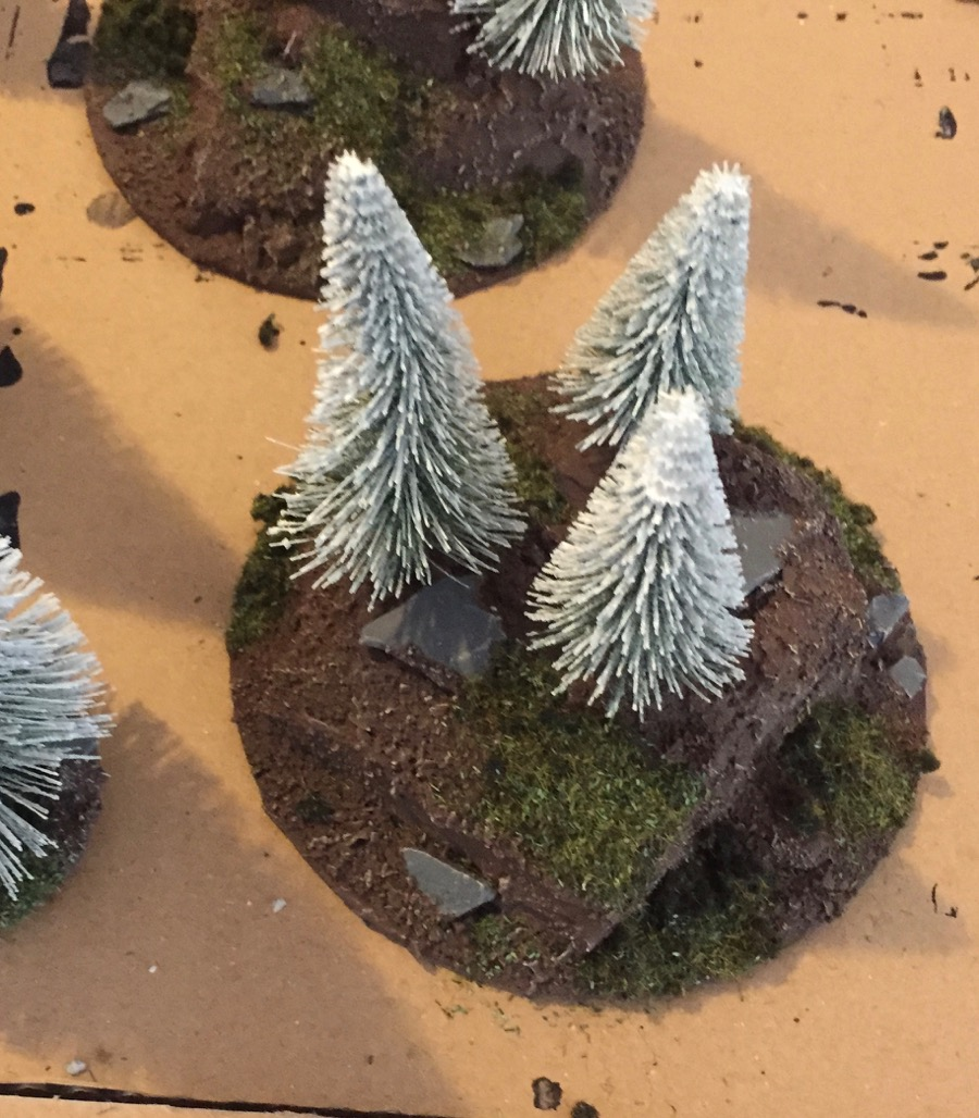 how to build a winter-forest for wargaming applying the flock