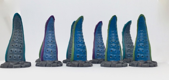 3D printed Tentacles detail