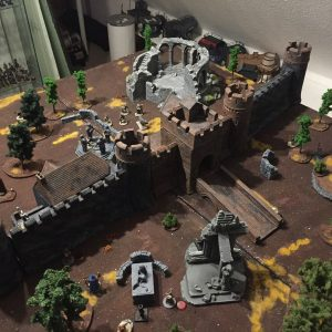 Miniature wargames I played in 2016 - Frostgrave Castle and ruins