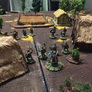 Miniature wargames I played in 2016 - SAGA Vikings vs Anglo-Danes