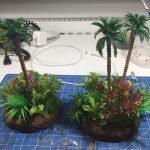 Jungle terrain for wargaming medium pieces