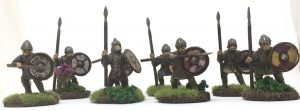 anglo-danish army for saga warriors with spears