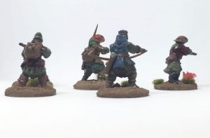 Frostgrave Warband archers crossbowmen closeup backside