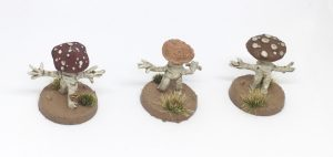 Lesser Myconids from Otherworld Miniatures top