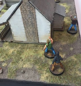 The Walking Dead gaming table the house