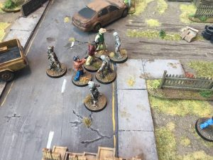The Walking Dead gaming table fight