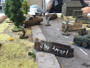 The Walking Dead gaming table detail