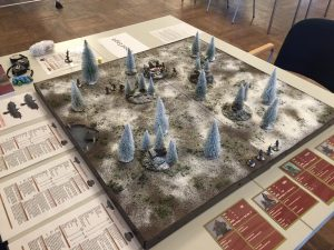 Blood Eagle participation game the gaming table ready for the first game