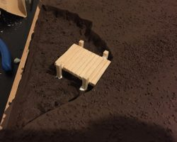 How to build a winter wargaming table - building the dock