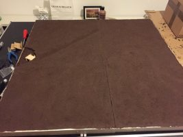 How to build a winter wargaming table - dry brushing the game table