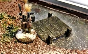 How to build a winter wargaming table - wanderer on the lake