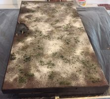 How to build a winter wargaming table - folded gaming table detail