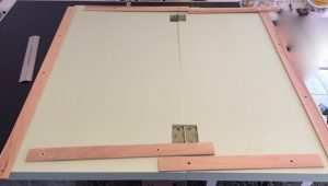 How to build a winter wargaming table - building the frame