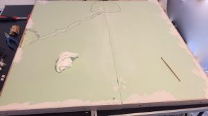 How to build a winter wargaming table - smoothing the gaming table