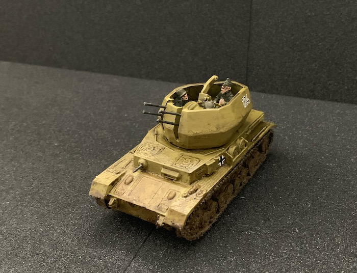 Flakpanzer IV Wirbelwind Warlord the finished model