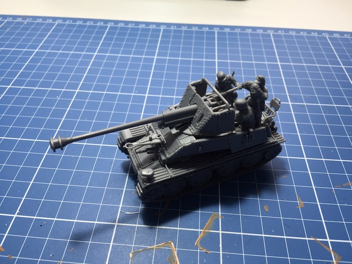 The assembled Marder III  from Warlord