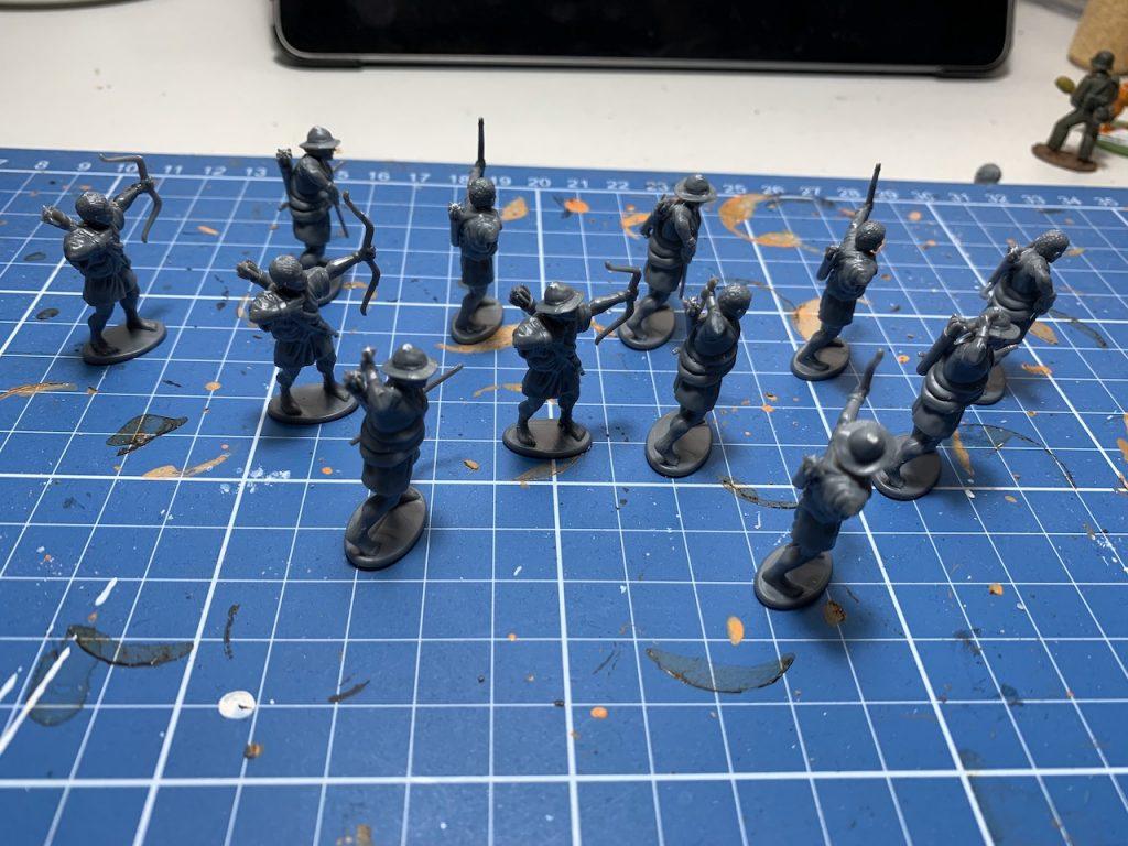 The Victrix Greek Archers before priming