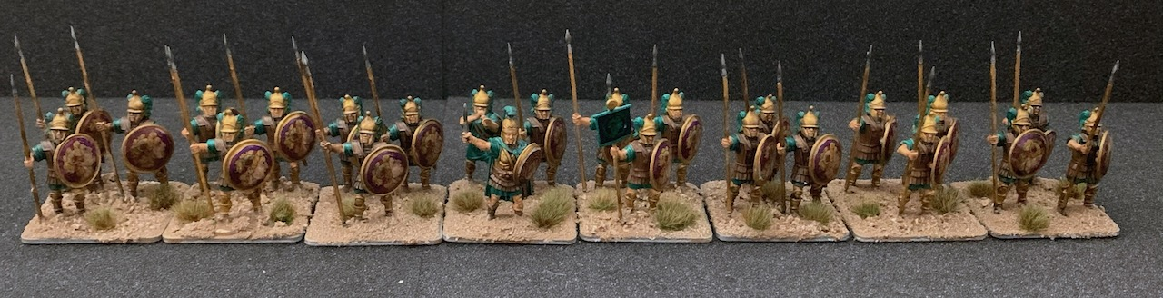 group view of the finished Victrix Macedonian Hypaspists