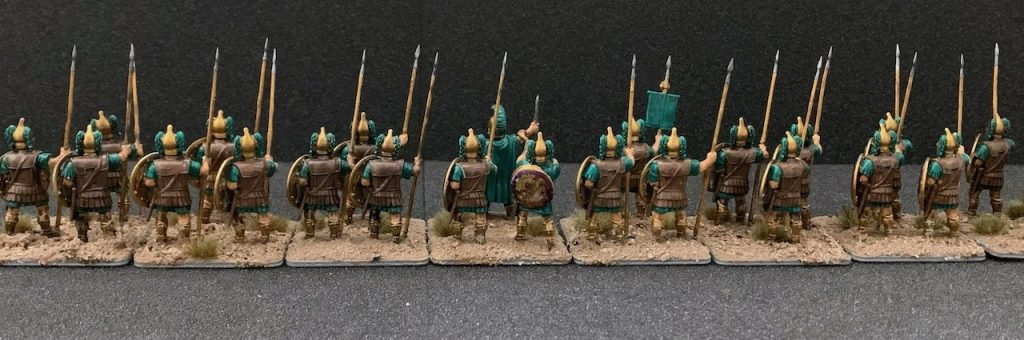 the finished Victrix Macedonian Hypaspists