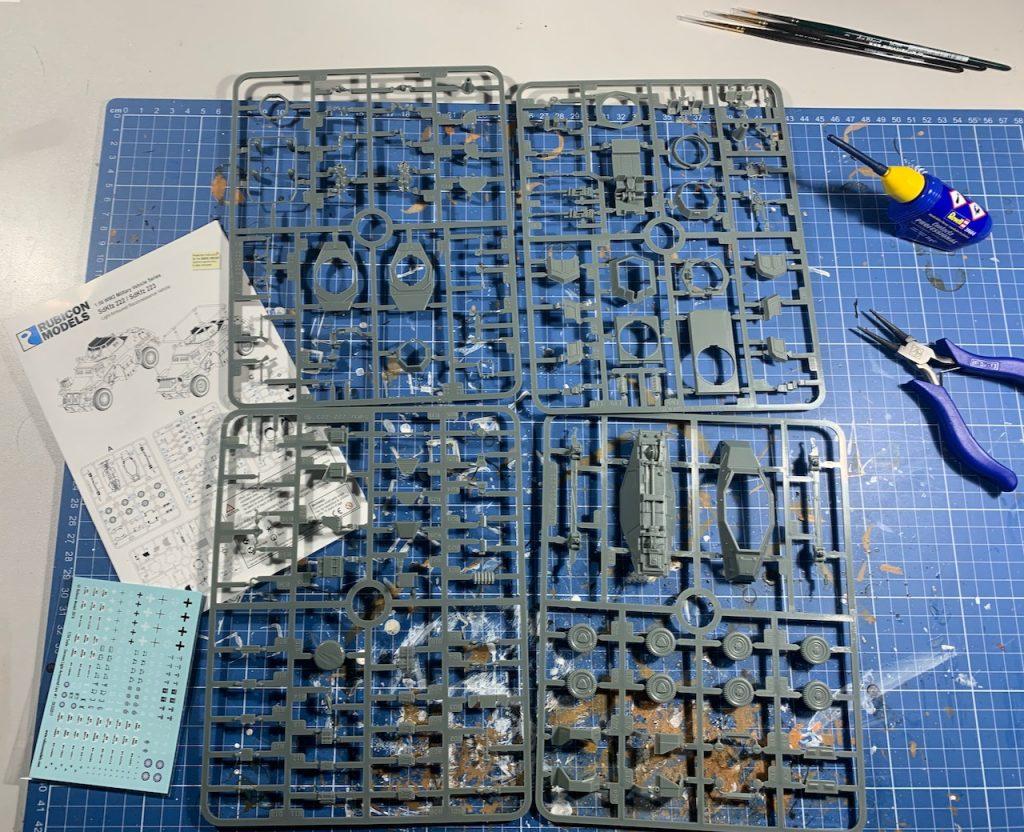 Rubicon SdKfZ 222 the sprues
