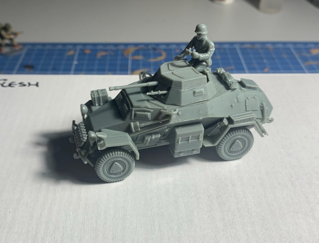 Rubicon SdKfZ 222 model before painting front