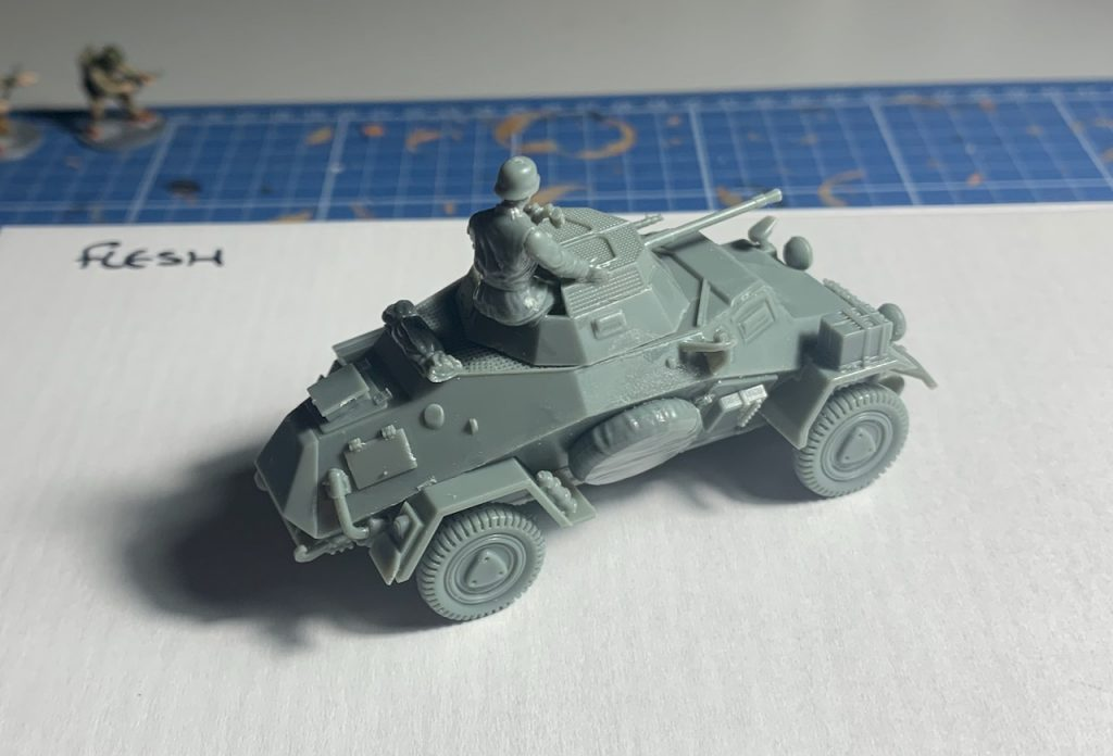 Rubicon SdKfZ 222 model before painting back